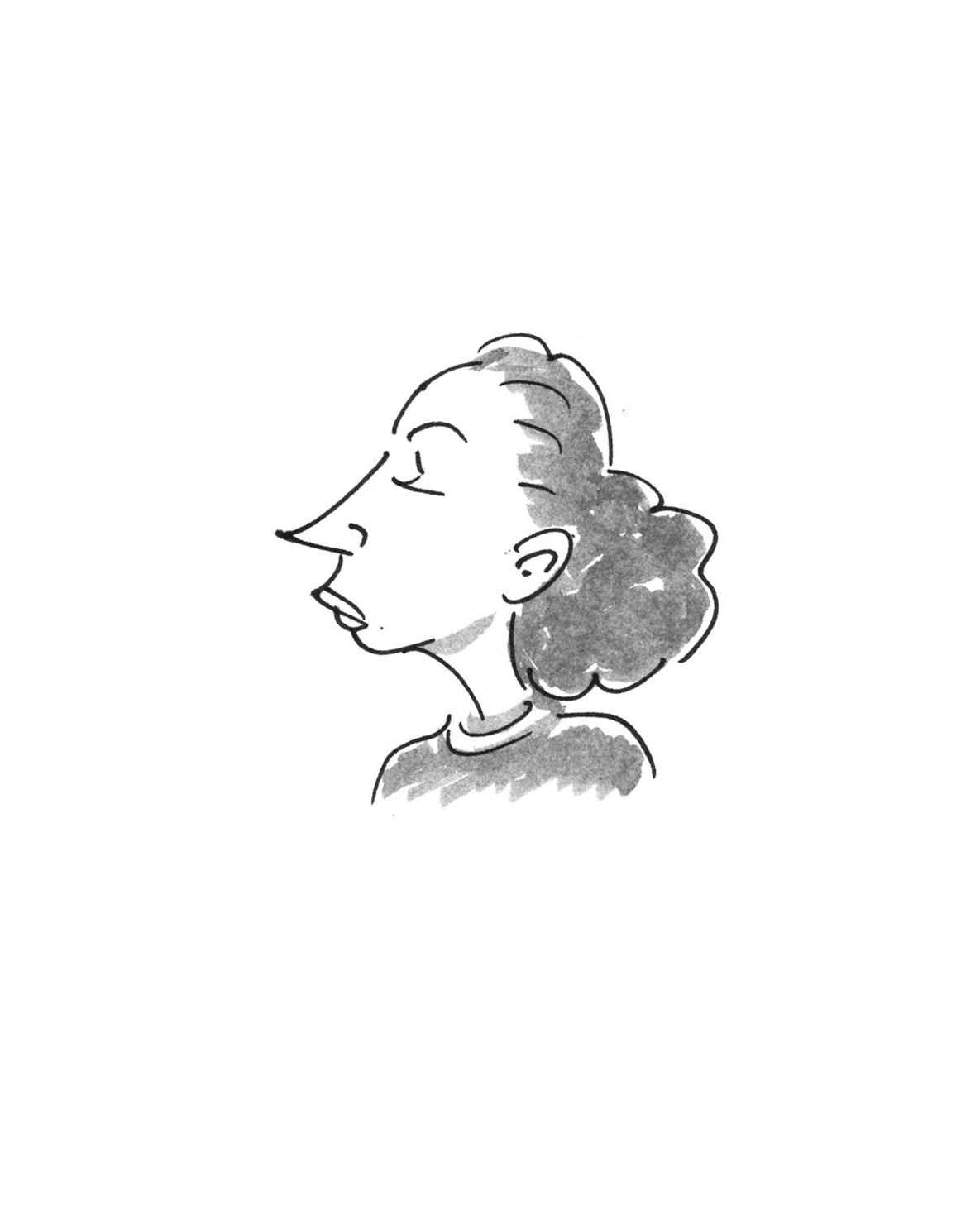 Alfredo Fajardo sketch of a poet