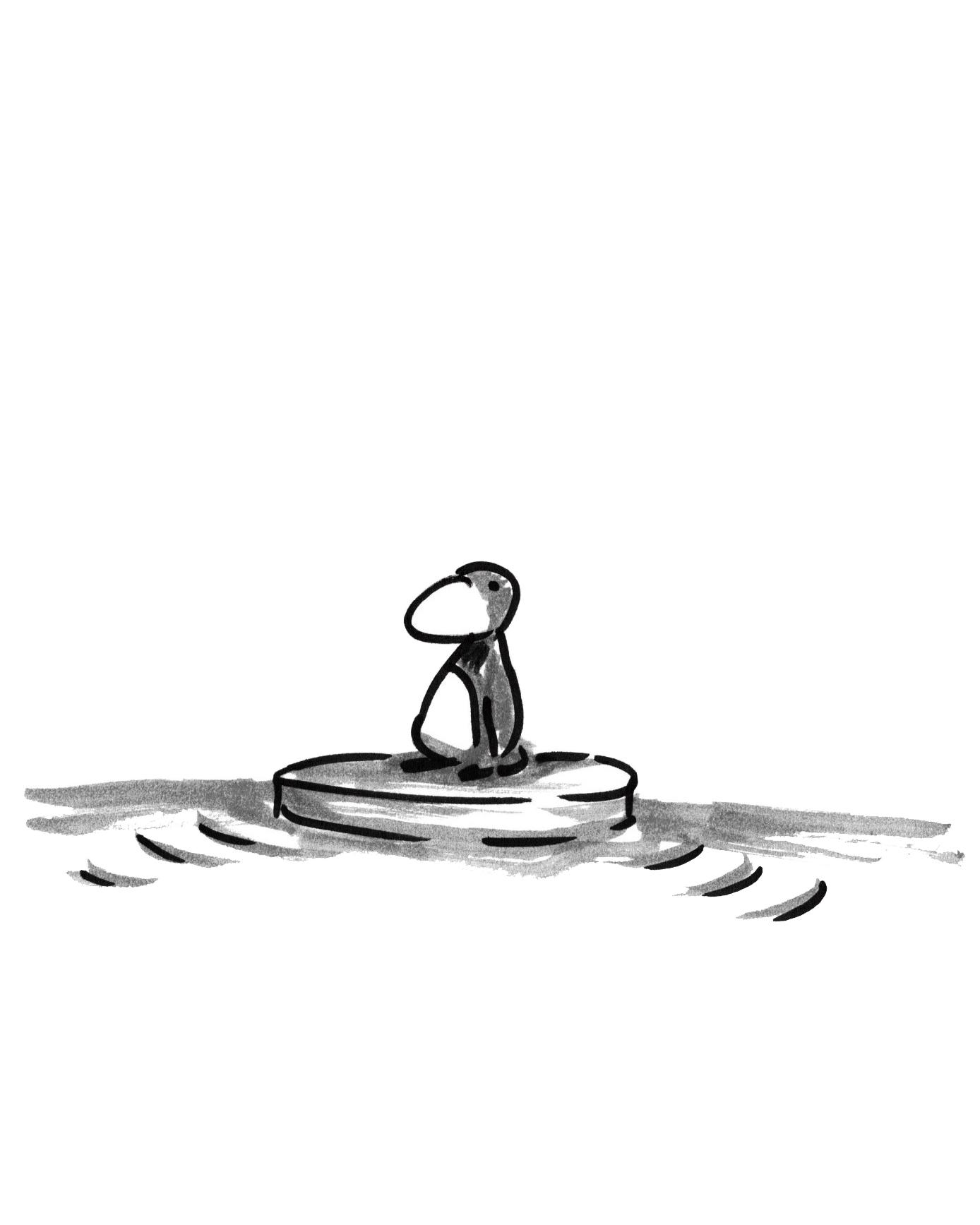 Alfredo Fajardo sketch of a penguin