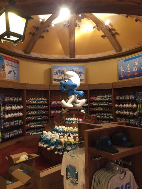 Smurfs Studios Store interior